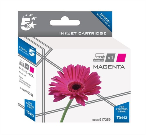 5 Star Compatible Inkjet Cartridge Page Life 400pp Magenta [Epson T044340 Alternative]