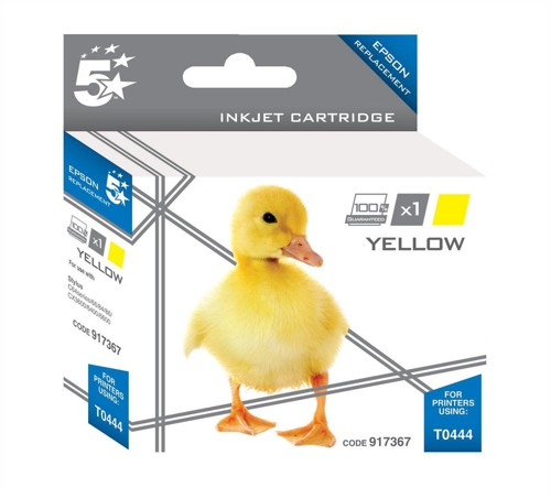 5 Star Compatible Inkjet Cartridge Page Life 400pp Yellow [Epson T044440 Alternative]
