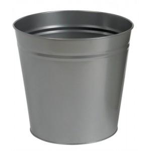5 Star Round Metal Waste Bin 15L Silver