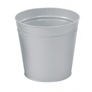 5 Star Waste Bin Round Metal Scratch Resistant D300xH280mm 15 Litres
