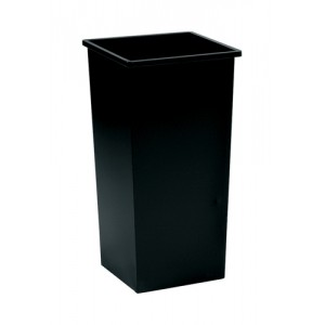 5 Star Waste Bin Square Metal Scratch-resistant W325xD325xH630mm 48 Litres Black