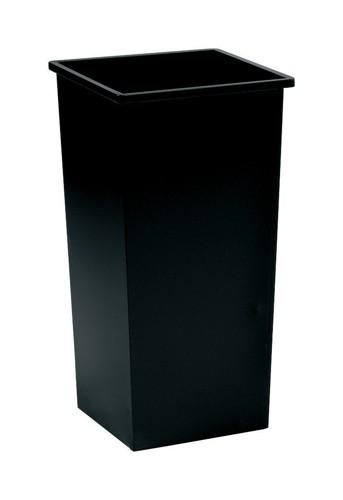 5 Star Waste Bin Square Metal Scratch-resistant W325xD325xH630mm 48 Litres Black