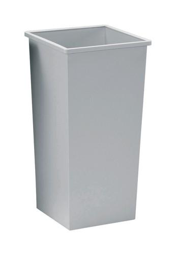 5 Star Waste Bin Square Metal Scratch-resistant W325xD325xH630mm 48 Litres Grey