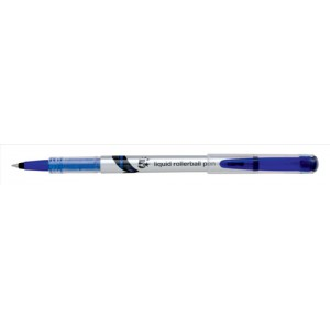 5 Star Rollerball Pen Liquid Fine 0.7mm Tip 0.5mm Line Blue [Pack 12]