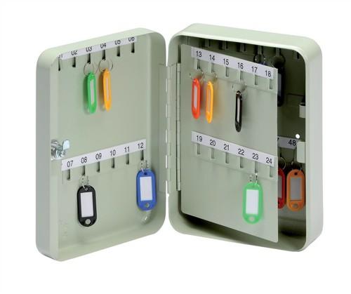 5 Star Key Cabinet Steel Lockable Holds 48 Keys Ref