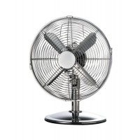 Image for 5 Star Desk Fan Oscillating 48.5Db 3-Speed 45 Watts H425mm Dia.305mm Chrome