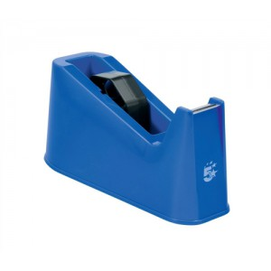 5 Star Tape Dispenser Desktop Weighted Non-slip Roll Capacity 25mm Width 66m Length Blue