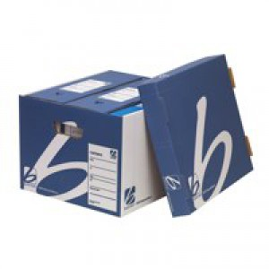 5 Star Superstrong Archive Storage Box Foolscap W307xD403xH320mm Blue [Pack 10]
