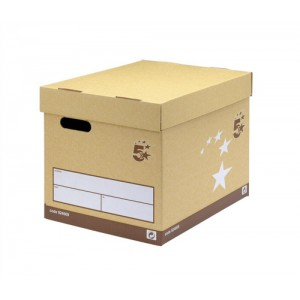 5 Star Superstrong Archive Storage Box Foolscap W307xD403xH320mm Sand [Pack 10]