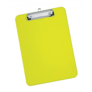 5 Star Clipboard Solid Plastic Durable with Rounded Corners A4 Lime Green