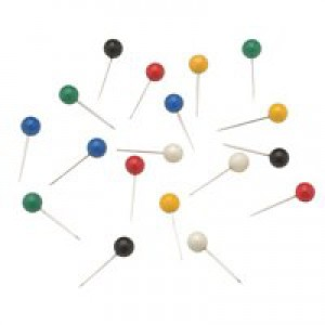 5 Star Map Pins 5mm Head Assorted [Pack 100]