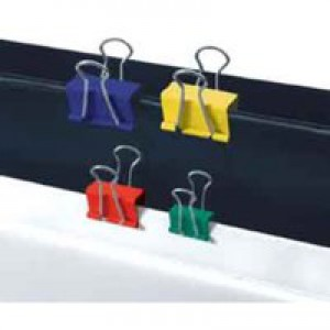 5 Star Foldback Clips 19mm Assorted [Pack 12]