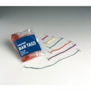 5 Star Treasury Tags Plastic-ended 25mm Red [Pack 100]