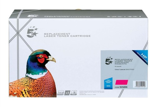 5 Star Compatible Laser Toner Cartridge Page Life 6000pp Magenta [HP No. 503A Q7583A Alternative]