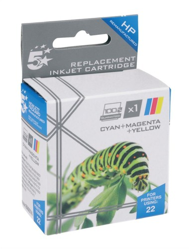 5 Star Compatible Inkjet Cartridge Page Life 280pp Colour [HP No. 22 C9352A Alternative]