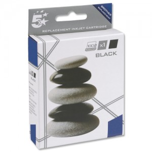 5 Star Compatible Inkjet Cartridge Page Life 450pp Black [Brother LC1100BK Alternative]