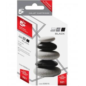 5 Star Compatible Inkjet Cartridge Page Life 425pp Black [Canon CLI-521BK Alternative]
