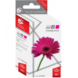 5 Star Compatible Inkjet Cartridge Page Life 470pp Magenta [Canon CLI-521M Alternative]