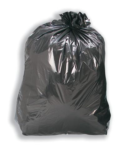 Refuse Sacks Recycled 110 Litre Capacity Black [Box 200]