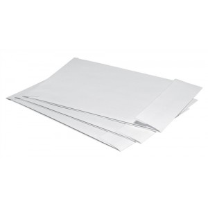 5 Star Envelopes Peel and Seal Gusset 25mm 324x229mm White [Pack 125]