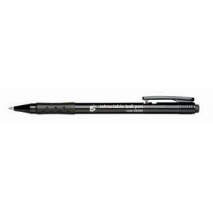 5 Star Ball Pen Retractable Medium 1.0mm Tip 0.7mm Line Black [Pack 20]