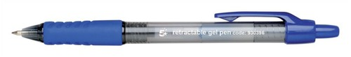 5 Star Gel Rollerball Retractable Medium 0.7mm Tip 0.4mm Line Blue Ref GP110601 [Pack 12]