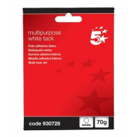 Image for 5 Star Multipurpose Tack Adhesive Re-usable Non-toxic 70g White [Pack 12]