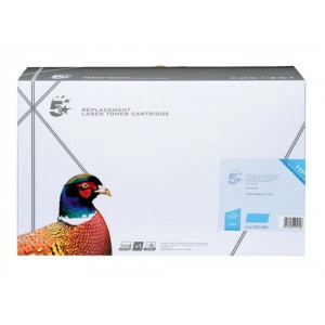 5 Star Compatible Laser Toner Cartridge Page Life 7500pp Cyan [HP No. 642A CB401A Alternative]
