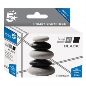 5 Star Compatible Inkjet Cartridge Capacity 5.9ml Black [Epson T1281 Alternative]
