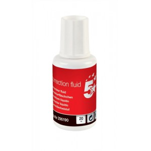 5 Star Correction Fluid Fast-drying with Integral Mixer Ball 20ml White [Pack 10]