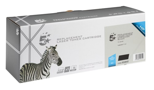 5 Star Compatible Laser Toner Cartridge Page Life 1600pp Black [HP No. 85A CE285A Alternative]