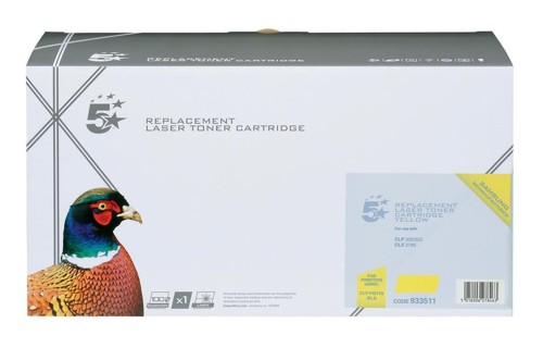 5 Star Compatible Laser Toner Cartridge Page Life 1000pp Yellow [Samsung CLT-Y4072S Alternative]