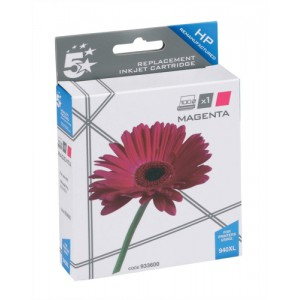 5 Star Compatible Inkjet Cartridge Page Life 1400pp Magenta [HP No. 940XL C4908AE Alternative]