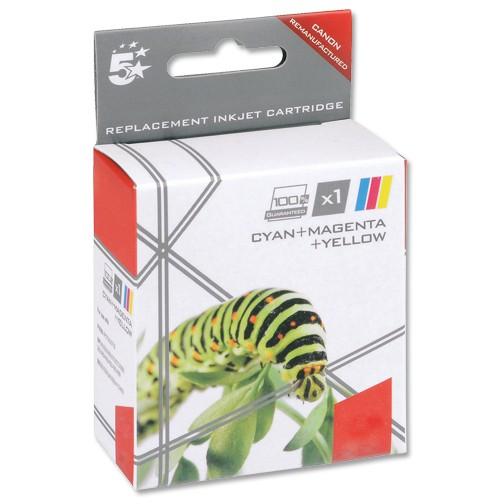 5 Star Compatible Inkjet Cartridge Page Life 3x545pp 3 Colour [Canon CLI-526 Alternative] [Pack 3]