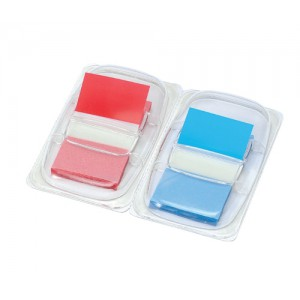 5 Star Index Flags 50 per Pack 25mm Red and Blue [Pack 2]