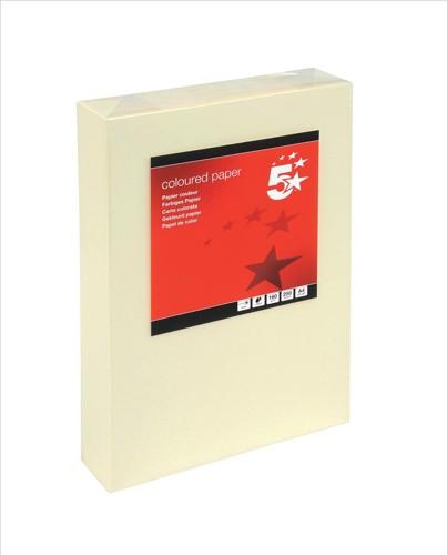 5 Star Tinted Card A4 160g L/CreamPk250