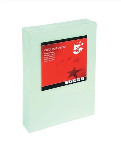 5 Star Tinted Card A4 160g L/Green Pk250