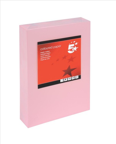 5 Star Copier Card Multifunctional 160gsm A4 Light Pink