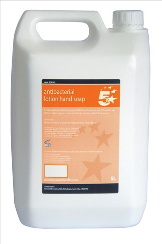 5 Star Anti-Bacterial Lotion Hand Soap 5 Litre