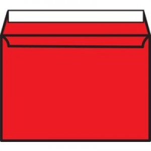 Pillarbox Red C5 P/Seal Envelope Pk250