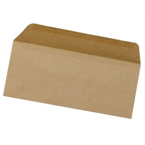 5 Star Envelopes Lightweight Wallet Gummed 75gsm Manilla DL [Pack 1000]