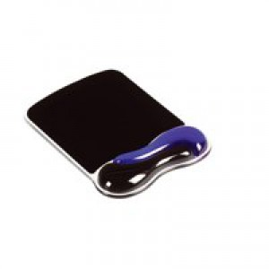 Acco Kensington Gel Wave Mouse Mat Blue/Black 62401