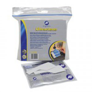 AF Ultra Clene Duo Wet/Dry Keyboard Wipes Pack of 10 AULT010