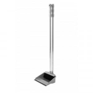 Addis Long Handled Dustpan and Brush Set Metallic 501043