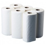 Kitchen Towels 2 Ply White 24 Rolls