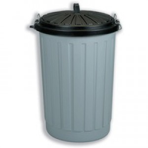Addis Dustbin Round 90 Litre Grey with Black Lid