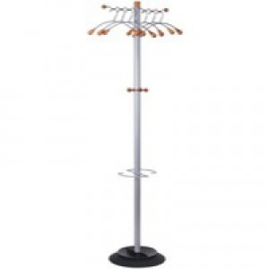 Alba Elegant Metal/Wood Coat Stand PMWAVE