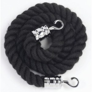 Albion Rope 25mm x150cm Black Chrome Hooks 980