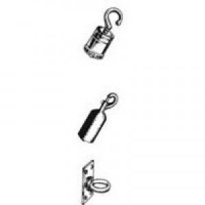 Albion Rope 25mm x150cm Red Chrome Hooks 980