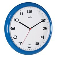 Image for Acctim Blue Aylesbury Plastic Wall Clock